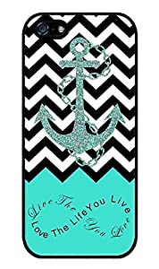 Zeimax? UV Case for iPhone 5 5S - Live the Life You Love (White)