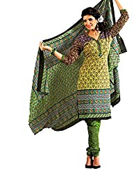 Unstitched Salwar Suit with Dupatta from GreatIndiaFashion (Free Shipping)