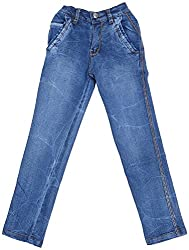 Boyhood Boys Boot cut Jeans (j5061-b-l, Blue, 7-8 Years)