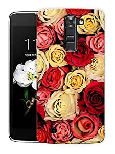 "Multi Colored Roses Love Printed Designer Mobile Back Cover For ""LG K10"" By Humor Gang (3D, Matte Finish, Premium Quality, Protective Snap On Slim Hard Phone Case, Multi Color)"