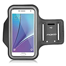 buy Galaxy S7 / S7 Edge Armband, Moko Sports Armband For Samsung Galaxy S7 / S7 Edge / Note 5 / S6 Edge+, Key Holder & Card Slot, Sweat-Proof, Black (Compatible With Cellphones Up To 5.7 Inch)