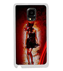 Girl in Skirt 2D Hard Polycarbonate Designer Back Case Cover for Samsung Galaxy Note Edge :: Samsung Galaxy Note Edge N915FY N915A N915T N915K/N915L/N915S N915G N915D