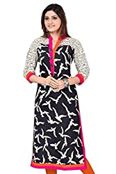 Fashion Galleria black printed cotton kurti