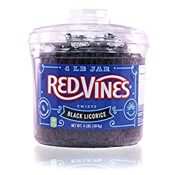 Red Vines Black Licorice Twists (4-Pound Jar)