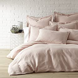 Washed Linen Blush King Duvet Cover