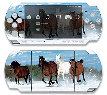 Mountain Running Horses Decorative Protector Skin Decal Sticker for Sony Playstation PSP Slim / PSP 3000