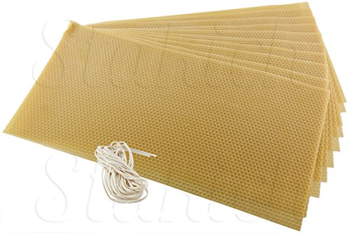 Stakich CANDLE MAKING Beeswax Kit, 10 Full Size Sheets (Approx. 8 1/8