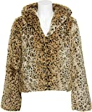 LUZ Cheetah Print Fur Hooded Jacket [LF3016]