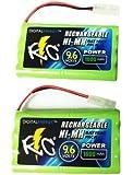Pack of 2 True Energy 9.6V/1600mAh Ni-MH RC Car Batteries