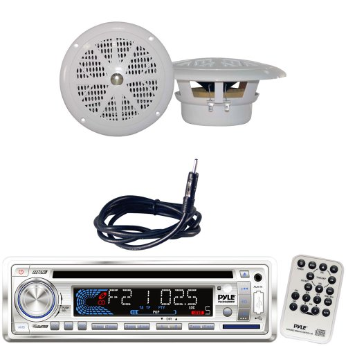 Pyle Marine Radio Receiver  Speaker And Cable Package