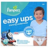 Pampers Easy Ups Training Pants Disposable Diapers for Boys Size 6 (4T-5T), 60 Count, SUPER
