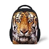 HUGSIDEA Cool Animal Tiger Head Print Small Backpacks Baby Kids Bookbag