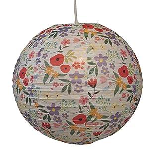 16'' Circular Paper Lampshade - Choice Of Design ( Summer Meadow ) by dotcomgiftshop