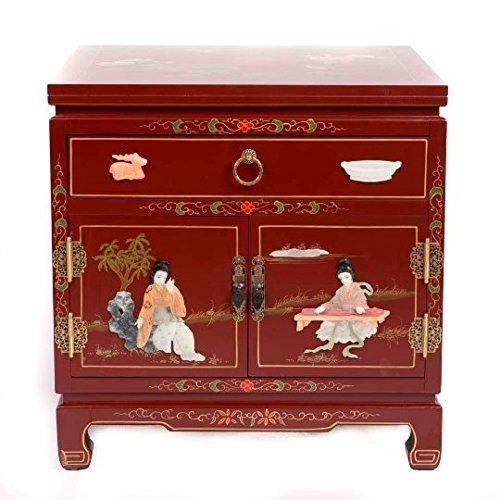 Comodino cinese mobili piccolo comodino rosso con cassetto Yangzhou gu-shi orientale asiatico soggiorno camera da letto Decor interior armadi comodini