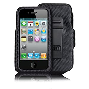 Case-Mate iPhone 4 Carbon Fiber Case Holster Combo