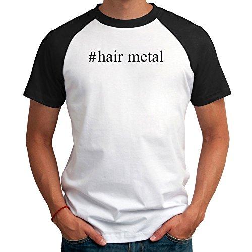 Maglietta Raglan #Hair Metal Hashtag
