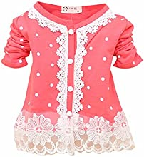Froomer Kid Girl Lace Pearl Button Cardigan Shirt Coat Tops