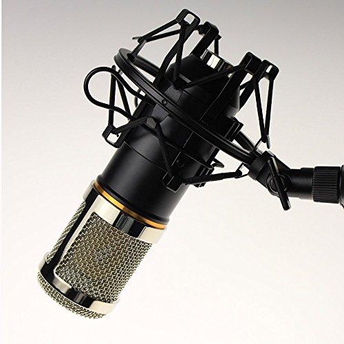 Codio コンデンサー マイク スタジオ 単一指向性 集音 高音質 録音 宅録 ゲーム実況 生放送 ブラック MK01BL