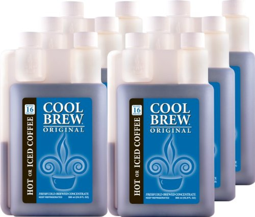 Cool Brew® Fresh Coffee Concentrate - Original 6X500Ml - Make Iced Coffee Or Hot Coffee - Enough For 100 Drinks