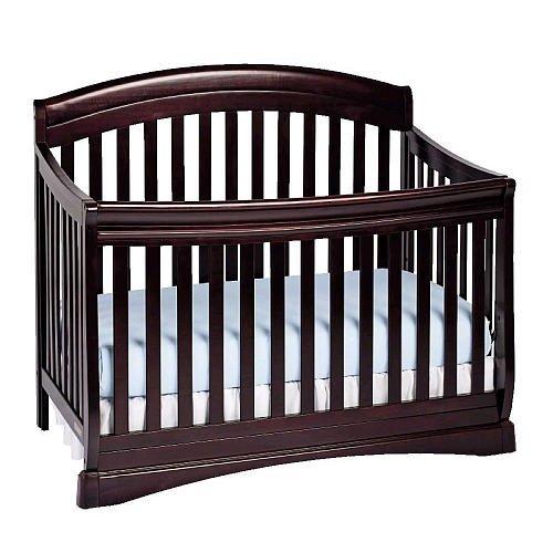Cherry Sleigh Crib front-1054794