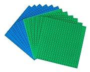 """Strictly Briks Premium Blue and Green 6 """"x 6"""" stapelbare Bauplatte 12 Pack - kompatibel mit allen gängigen Marken"""