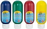 Crayola 323900 - Auswaschbare Fingerfarben, 4 Tuben