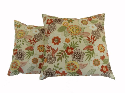 Decorative Pillows Newport Layton Home Fashions : Newport Layton Home Fashions 2-Pack KE20 Indoor/Outdoor Pillows, Madrid, Blossom $43.11