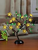 Lightshare™ NEW 18Inch 36LED Lotus Blossom Bonsai Light,Yellow Flower,Green Leaf,Battery Powered for Home Decoration