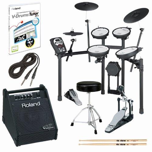 Roland Td-11Kv-S V-Drums Electronic Drum Kit With Pm-10 Amp & Accessories Bundle