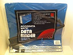 ACCODATA MATE DATA BINDER WITH CARRY HANDLE AND TAB LABEL - BLUE UNBURST 14 7/8 X 11 STOCK # 67073
