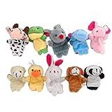 SODIAL(R)Marionetas Titeres de los dedos de Animal para los ninos (3*10) (30 piezas)