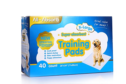 All-absorb Extra Large Training Pads 28-inch By 34-inch, 40-count (Puppy Pad Training compare prices)