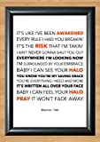 Beyonce 'Halo' Lyrical Song Print Poster Art A4 Size (Typography)