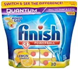 Finish Quantum Lemon Sparkle 2 x Pack of 30 (60 Dishwasher Tablets)