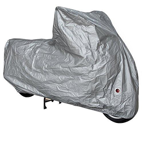 Telo-Copri-Moto-Scooter-Naked-Customo-Impermeabile-Universale-Argento-XL