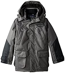 Nautica Big Boys\' Heavyweight Snorkel Coat, Grey, Large