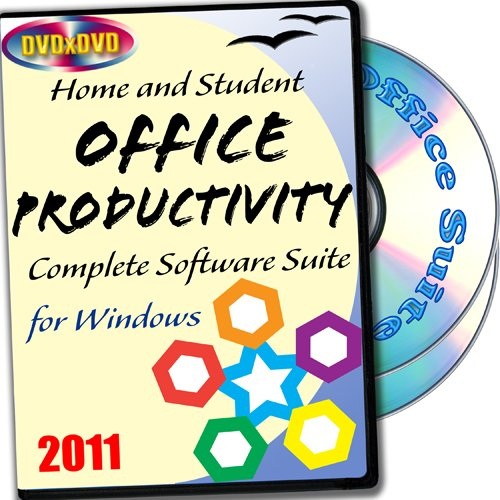 Home and Student Productivity Suite 2011, 2 -CD set, Includes: Complete Office Software for Windows, Antivirus, PDF Tool, Archiver, Disk Cleaning Utility, Rich Clipart Collection and Artistic Fonts Collection