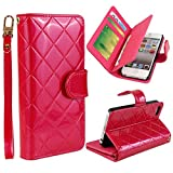 Vogue shop Leather Case with Wallet Compatible with Apple iPhone 5/5S ,Wallet Case,imported-PU Leather Case ,Cash,Credit Card Holder,Flip Cover Skin for iPhone 5/5S (rose)