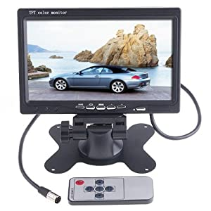 7 inch TFT Color LCD Car Rear View Camera Monitor Support Rotating The Screen and 2 AV Inputs by SecurityIng