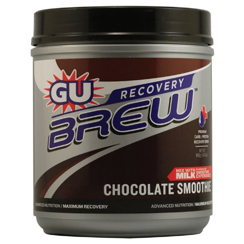 Gu Energy Labs Recovery Brew Chocolate Smoothie, Canister Drinks