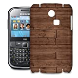 Phone Case For Samsung Ch@t 335 - Reclaimed Floorboards Wood Pattern Designer Cover