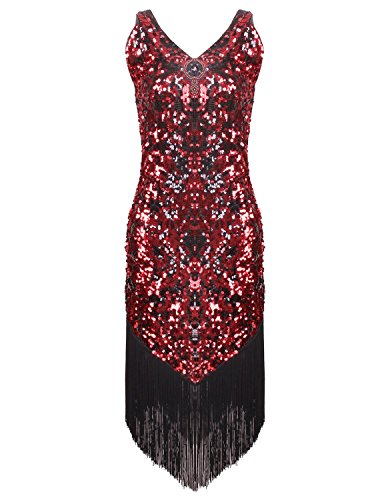 Vijiv-Womens-1920s-Gastby-Inspired-Sequined-Embellished-Fringed-Flapper-Dress