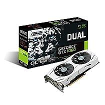ASUS GeForce 6GB Dual-Fan OC Edition VR Ready Dual HDMI DP 1.4 Gaming Graphics Card DUAL-GTX1060-O6G