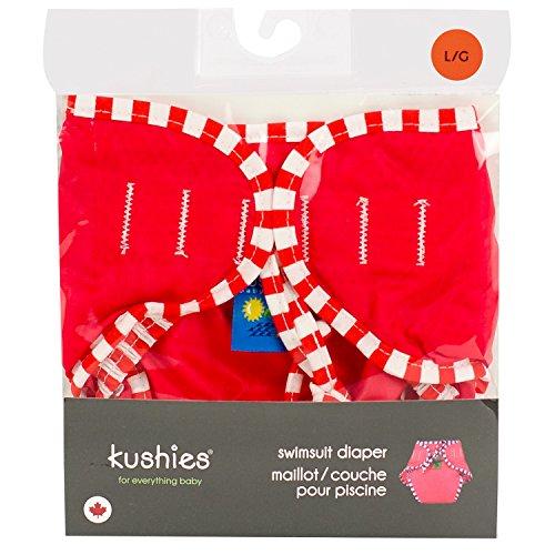 Kushies Cloth Swim Diaper - - Red - Large - 1