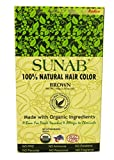 SUNAB-Radico-Ace-100%Organic Hair Colour-BROWN Colour-Made With Herbs Extracts-EcoCert Certified (No Ammonia,No Chemical)