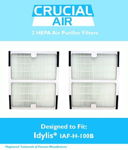 2 Idylis HEPA Air Purifier Filter, Fits Idylis Air Purifiers IAP-10-125, IAP-10-150, Model # IAF-H-100B, Designed & Engineered by Crucial Air