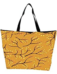 Snoogg A Seamless Pattern With Leaf Waterproof Bag Made Of High Strength Nylon - B01I1KJNNU