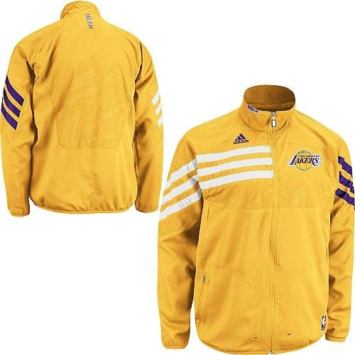 NBA adidas Los Angeles Lakers On-Court Warm-Up Jacket - (X-Large) at Amazon.com