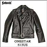 Schott ダブルライダース ワンスター 613US(ブラック/36)