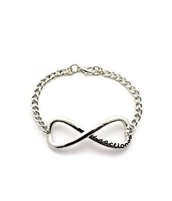 New One Direction Infinity Directioner Bracelet 4mm Metal Link Chain